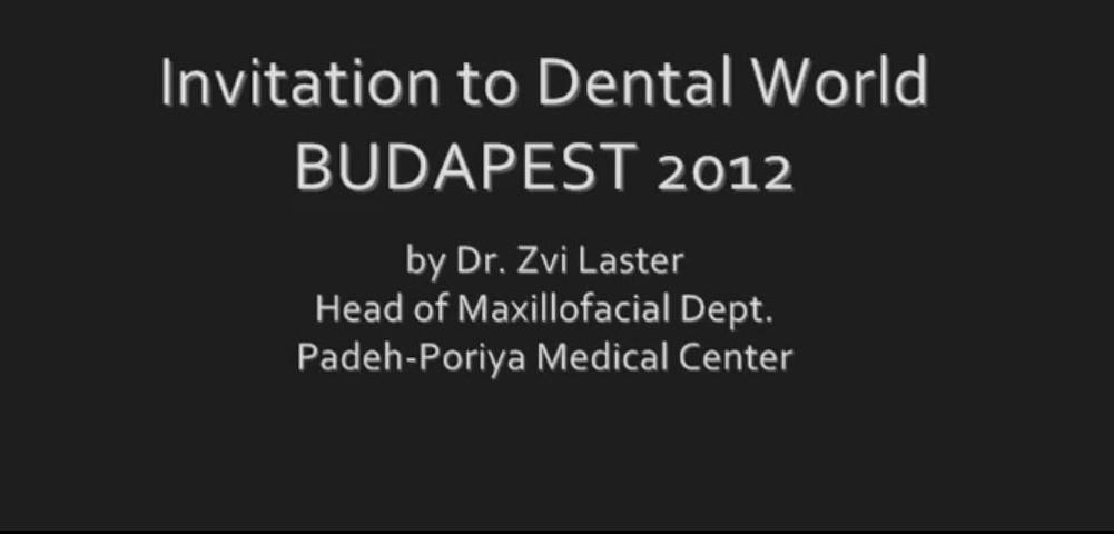 Dr. Zvi Laster videó ajánlója a Dental World 2012-őn tartandó: Sebészi megoldások extrém implantációs eseteknél c. előadására
