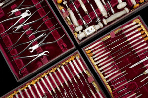 12 régi fogorvosi műszer
