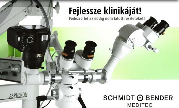 Precíziós munkavégzés kényelmesen a Schmidt & Bender MEDITEC csúcstechnológiás fogászati mikroszkópjaival