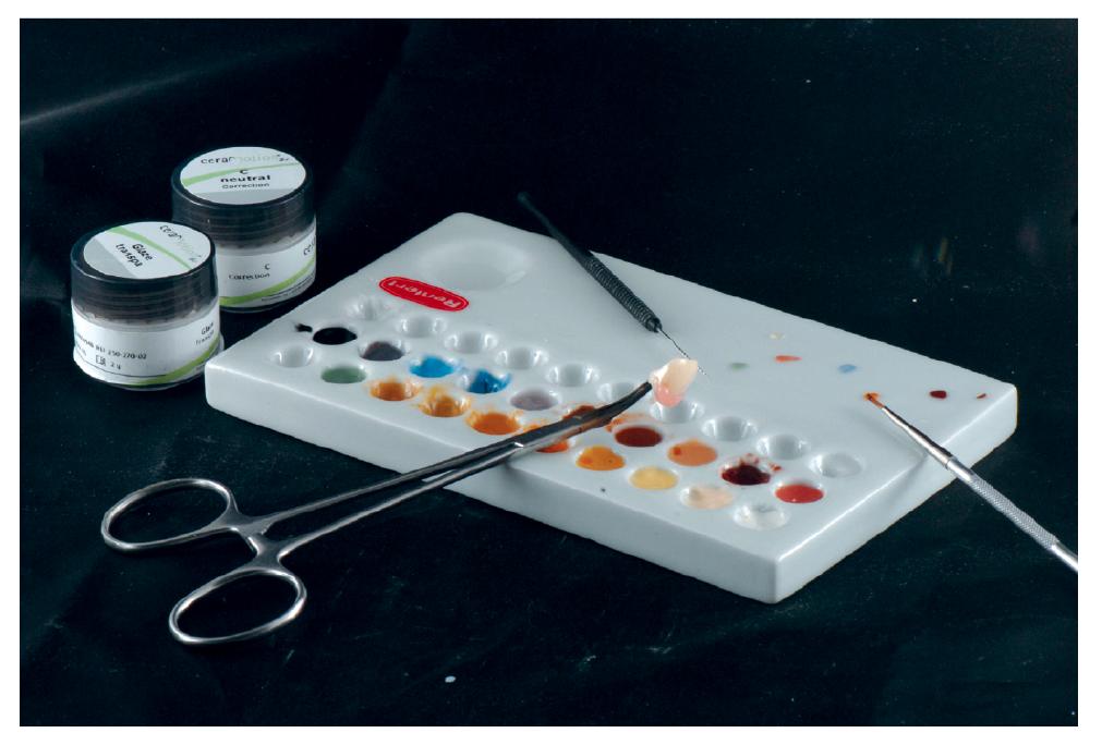 25. ábra: A festékek segítségével színmeghatározó tulajdonságokat egyszerűen imitálhatunk.