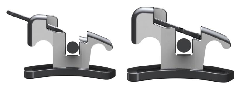 1. b ábra: A bracketslot nyitása és csukása.