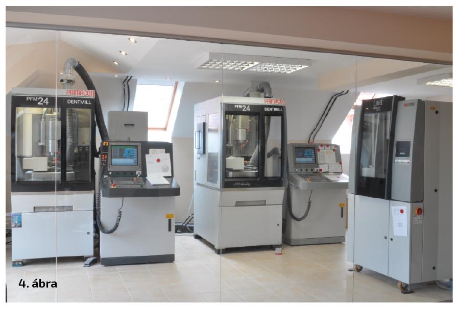 4. ábra: Primacon Medimill CNC-gépek, Dentmill Frézközpont.