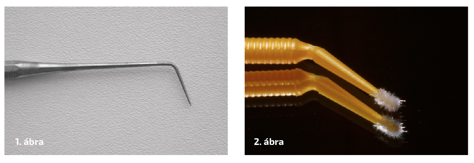 1. ábra: Ash 6-os szonda (Claudius Ash). 2. ábra: Mikroapplikátor.