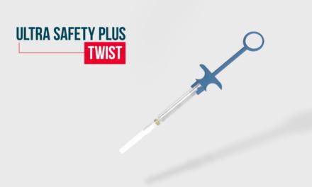 Az Ultra Safety Plus Twist, az arany szabványú biztonsági befecskendező eszköz továbbfejlesztett változata a Septodont cégtől