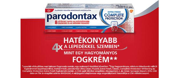 Parodontax Complete Protection – 8-féle előnyös hatás az íny és a fogak egészségéért