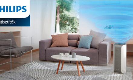Egészségesebb levegő a Philips légtisztító berendezéseivel