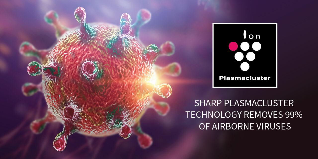 A japán Sharp Plasmacluster technológiája hatékony védekezést nyújt a vírusok ellen!